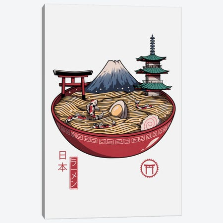 A Japanese Ramen Canvas Print #VTR1} by Vincent Trinidad Art Print