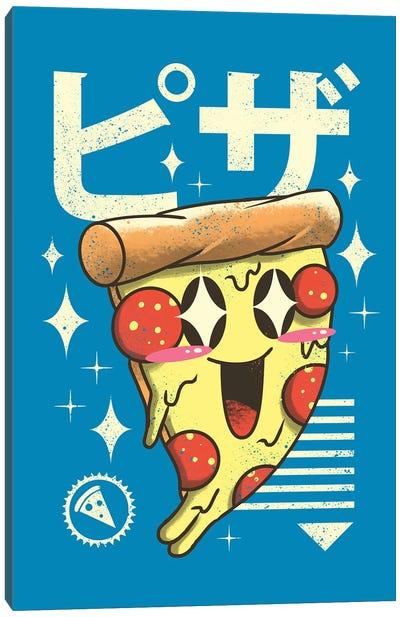 Kawaii Pizza Canvas Art Print