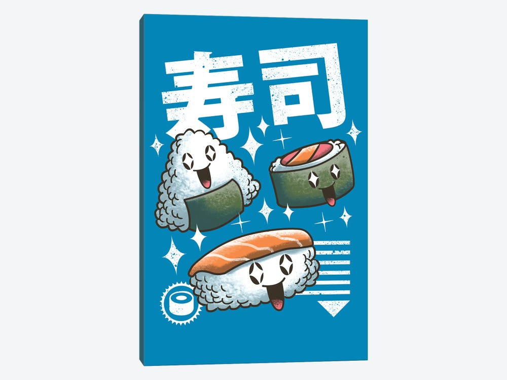 Kawaii Sushis by Vincent Trinidad 1-piece Art Print
