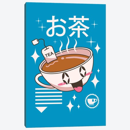 Kawaii Tea Canvas Print #VTR27} by Vincent Trinidad Canvas Artwork