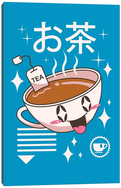 Kawaii Tea Canvas Art Print