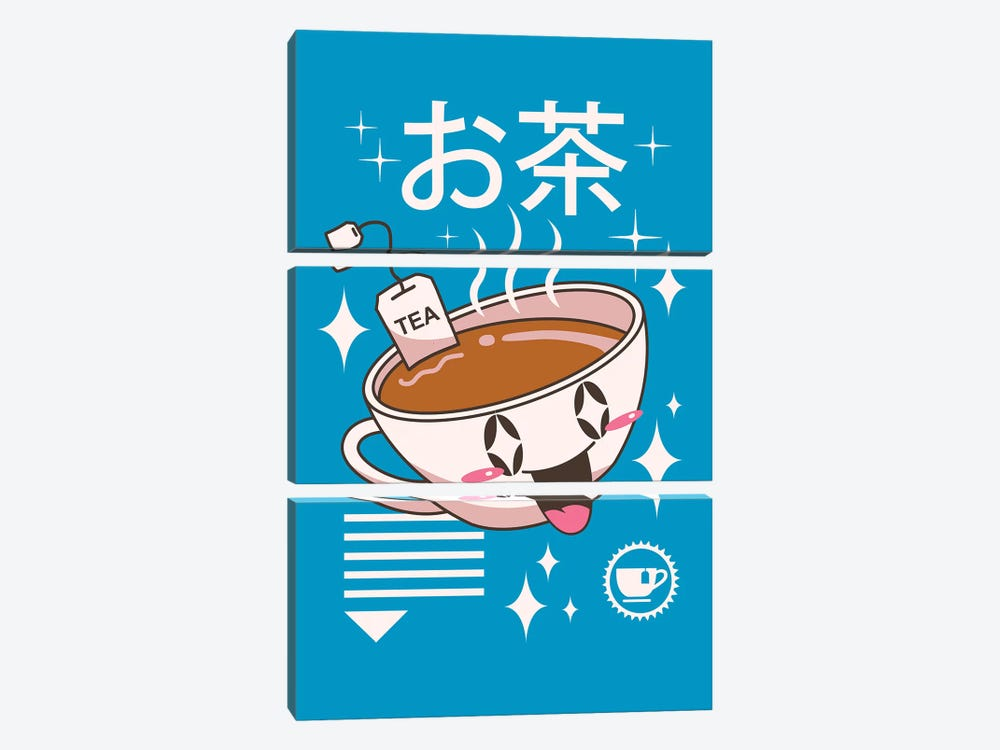 Kawaii Tea 3-piece Canvas Art