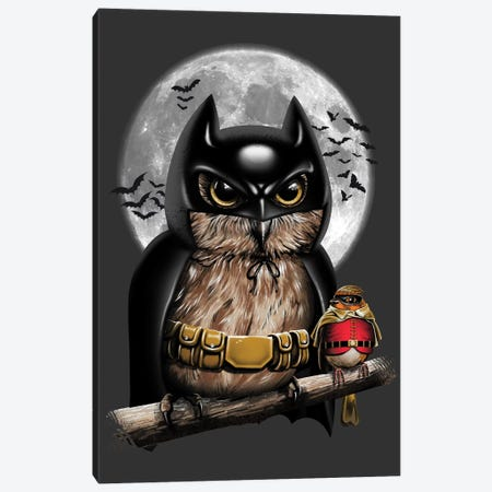 Knight Owl Canvas Print #VTR32} by Vincent Trinidad Canvas Wall Art
