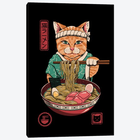 Neko Ramen Canvas Print #VTR33} by Vincent Trinidad Canvas Wall Art