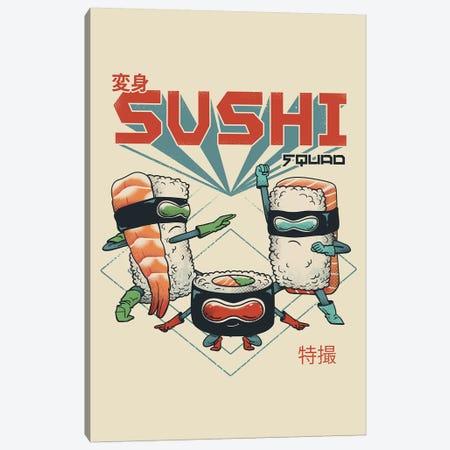 New Sushi Squad Canvas Print #VTR35} by Vincent Trinidad Canvas Print