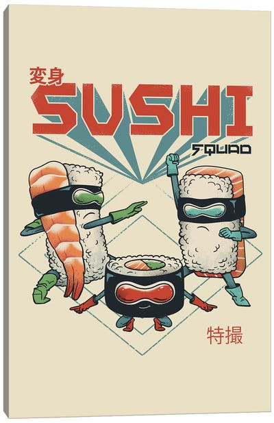 New Sushi Squad Canvas Art Print