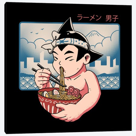 Ramen Boy Canvas Print #VTR36} by Vincent Trinidad Canvas Art Print