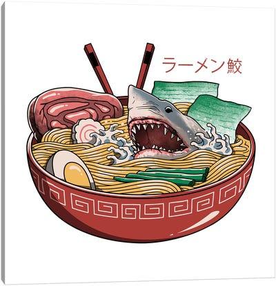 Ramen Shark Canvas Art Print