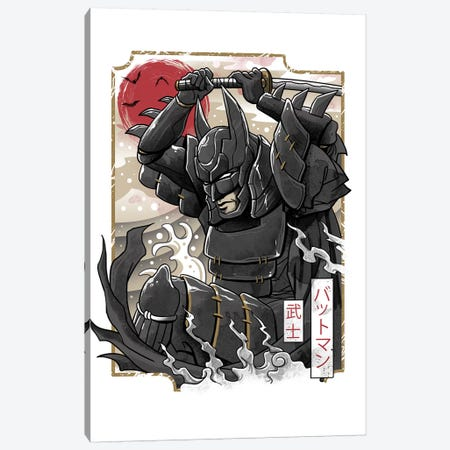Dark Samurai Knight Canvas Print #VTR3} by Vincent Trinidad Canvas Print