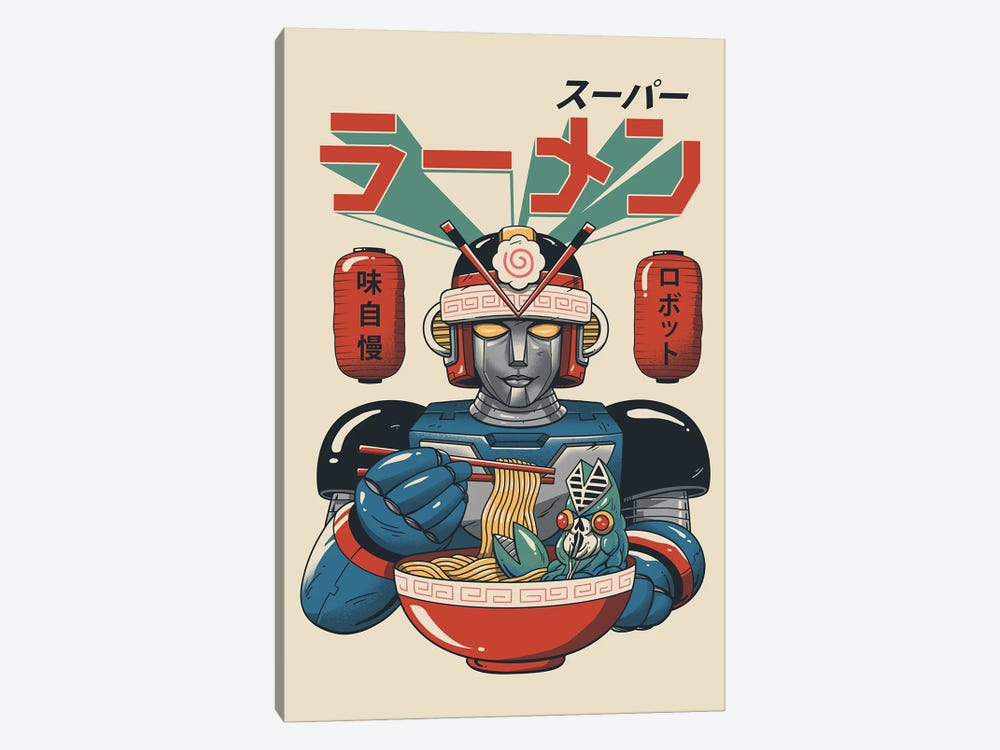 Super Ramen Bot by Vincent Trinidad 1-piece Canvas Art