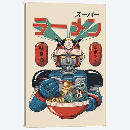 Super Ramen Bot Canvas Print #VTR41} by Vincent Trinidad Art Print
