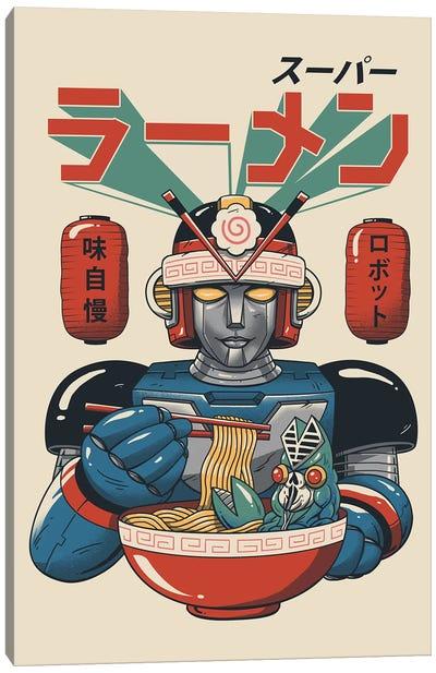 Super Ramen Bot Canvas Art Print