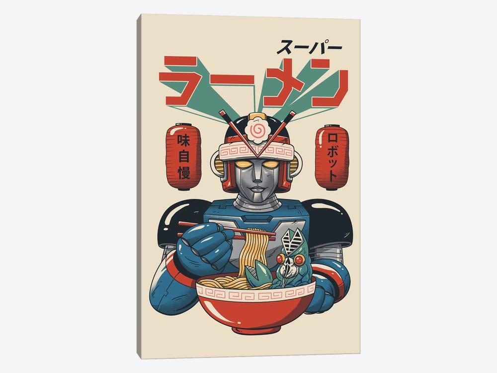 Super Ramen Bot by Vincent Trinidad 1-piece Canvas Art