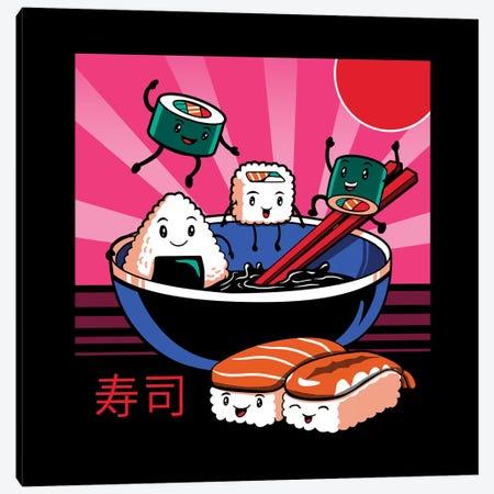 Sushi Retro Fun Canvas Print #VTR42} by Vincent Trinidad Canvas Print