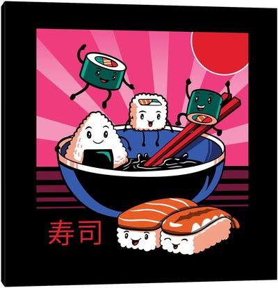 Sushi Retro Fun Canvas Art Print