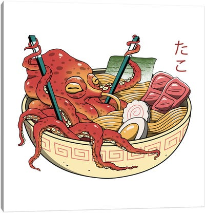 Tako Ramen Canvas Art Print