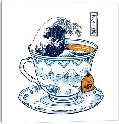The Great Kanagawa Tea Canvas Art Print