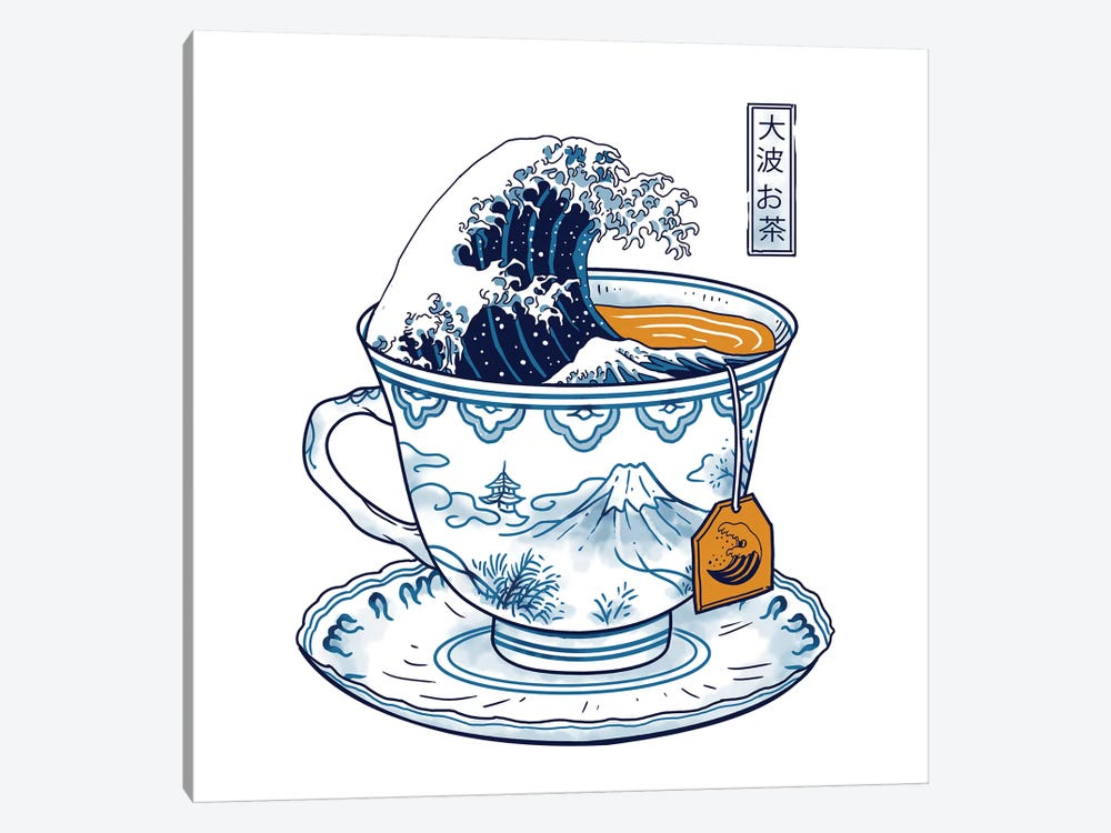The Great Kanagawa Tea by Vincent Trinidad 1-piece Canvas Artwork