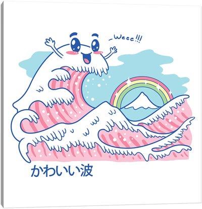 The Great Kawaii Wave Canvas Art Print