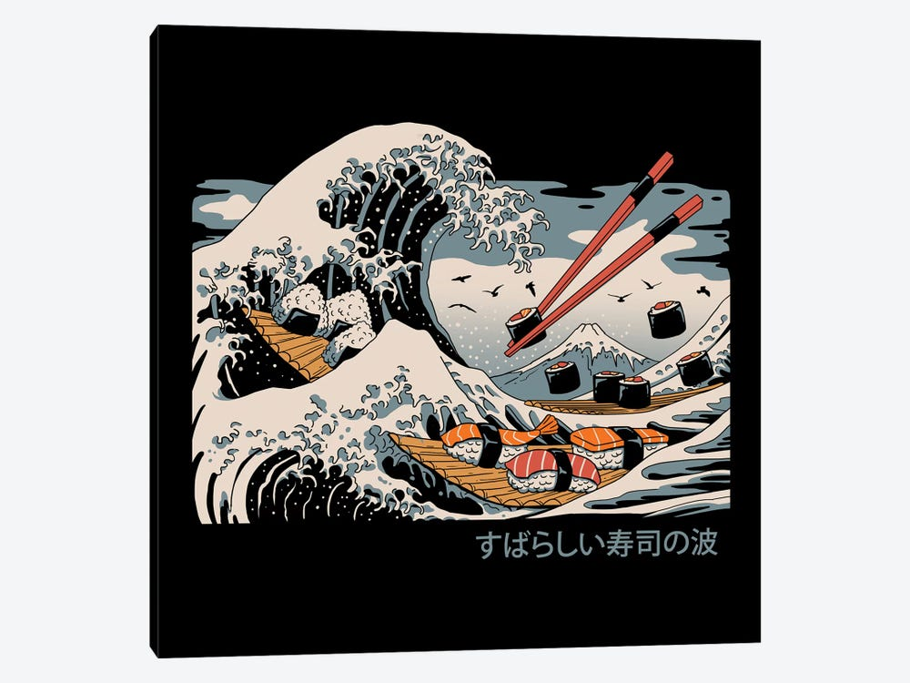 The Great Sushi Wave by Vincent Trinidad 1-piece Canvas Wall Art