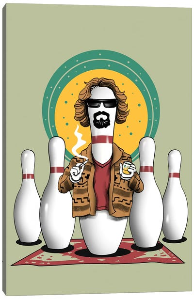 The Pin Lebowski Canvas Art Print