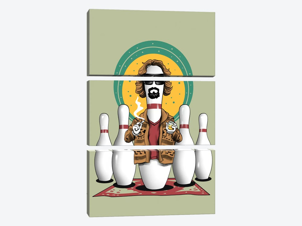 The Pin Lebowski by Vincent Trinidad 3-piece Canvas Art