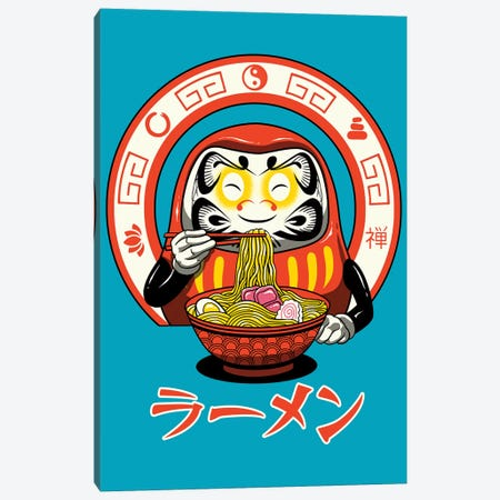Daruma Zen Ramen Canvas Print #VTR4} by Vincent Trinidad Canvas Artwork