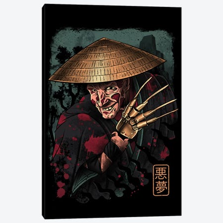 The Samurai Dreamer Canvas Print #VTR50} by Vincent Trinidad Canvas Artwork