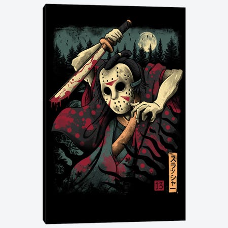 The Samurai Slasher Canvas Print #VTR52} by Vincent Trinidad Canvas Art