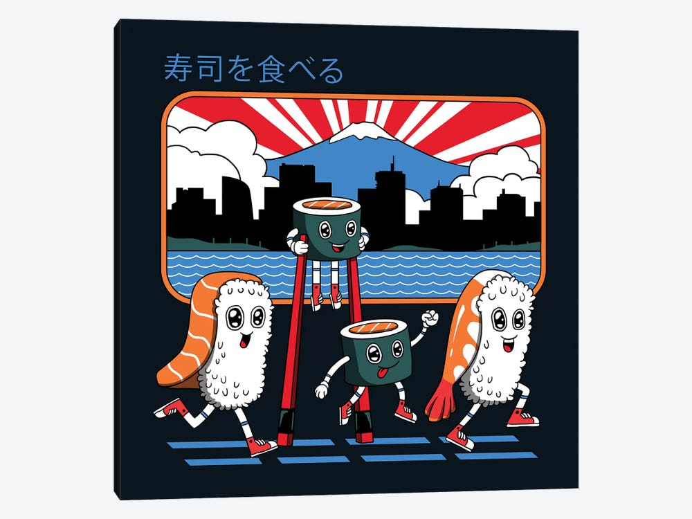 Tokyo Sushi Run by Vincent Trinidad 1-piece Canvas Wall Art