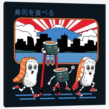 Tokyo Sushi Run Canvas Print #VTR54} by Vincent Trinidad Canvas Print