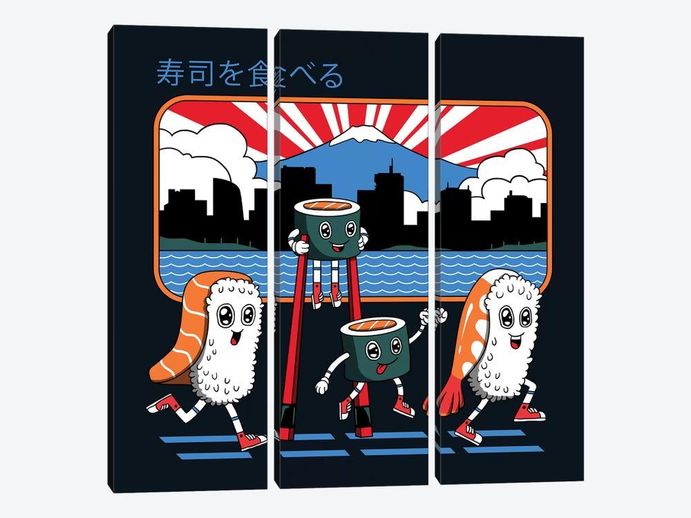 Tokyo Sushi Run by Vincent Trinidad 3-piece Canvas Artwork