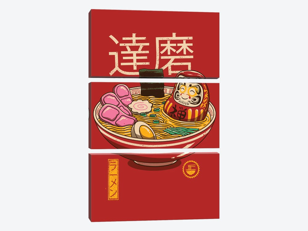 Zen Ramen by Vincent Trinidad 3-piece Art Print