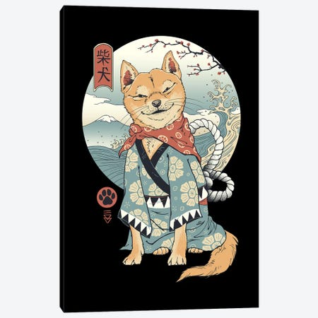 Shiba Inu Canvas Print #VTR62} by Vincent Trinidad Canvas Print