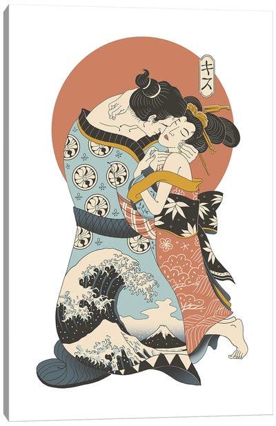 The Kiss Ukiyo-E Canvas Art Print