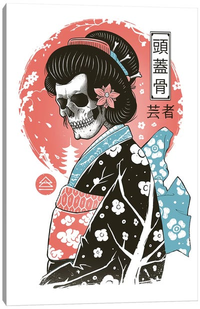 Yokai Geisha Canvas Art Print