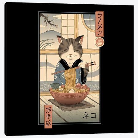 Neko Ramen Ukiyo-E Canvas Print #VTR67} by Vincent Trinidad Canvas Artwork