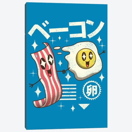 Kawaii Breakfast Canvas Print #VTR9} by Vincent Trinidad Art Print