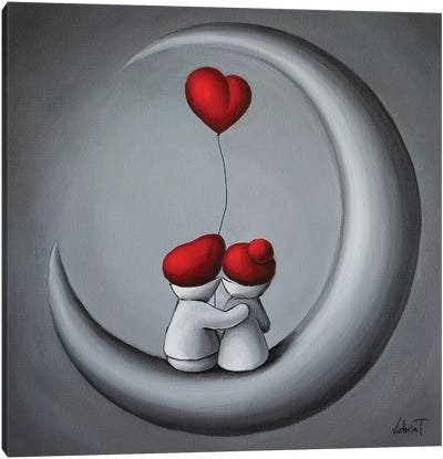To The Moon Canvas Art Print