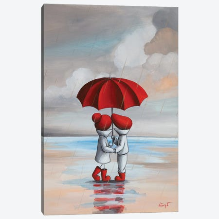 Under Umbrella Canvas Print #VTS15} by Victoria Tsekidou Canvas Art