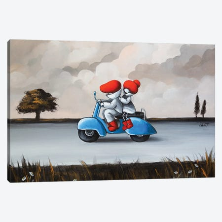 Vespa Canvas Print #VTS16} by Victoria Tsekidou Canvas Wall Art