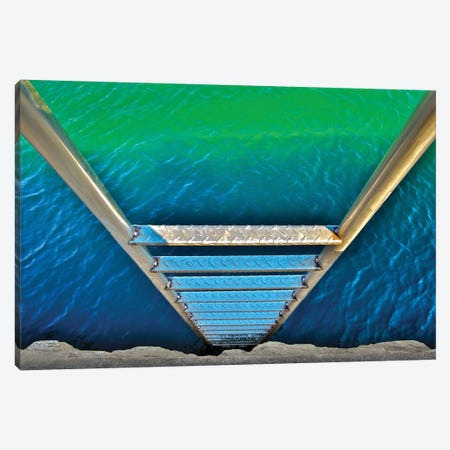 Sea Ladder Canvas Print #VVA4} by Verne Varona Canvas Wall Art