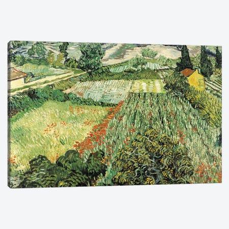 Feld Mit Mohnblumen Canvas Print #VVG1} by Vincent van Gogh Canvas Print