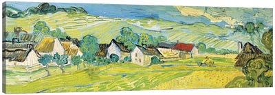 Vue Ensoleille Près D'Auvers Canvas Art Print