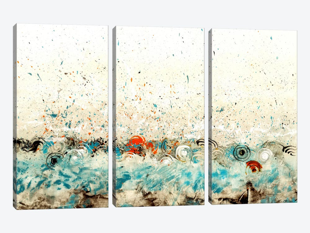 Rhythmic Hour by Vinn Wong 3-piece Canvas Artwork