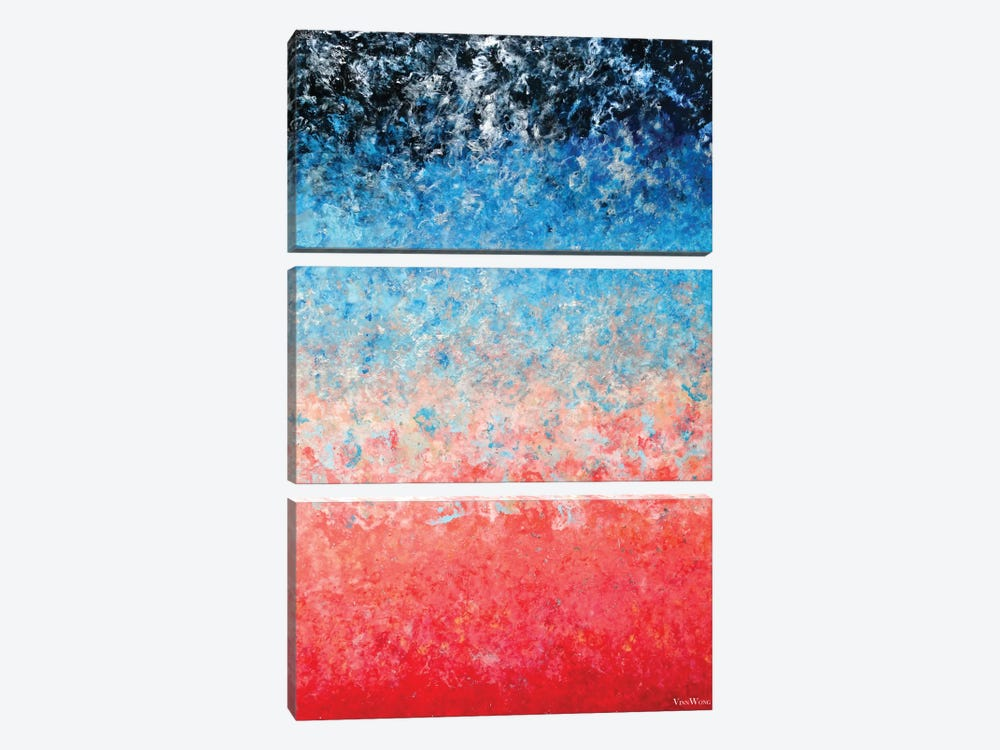 Magical Wildfire 3-piece Canvas Print