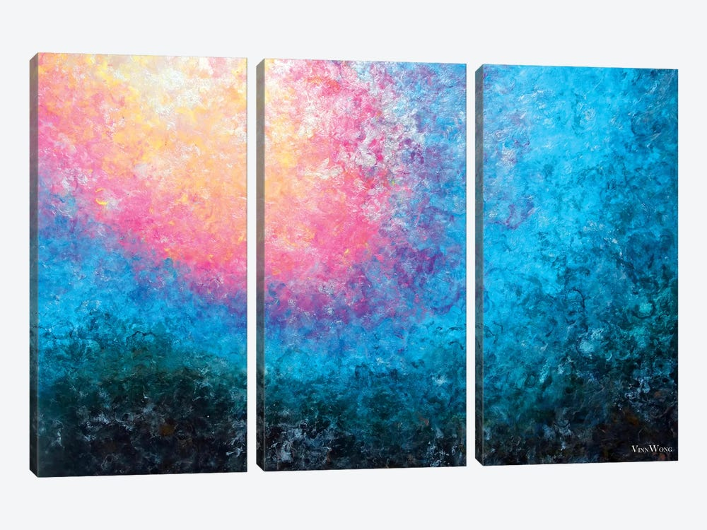 Blooming Tide by Vinn Wong 3-piece Canvas Print