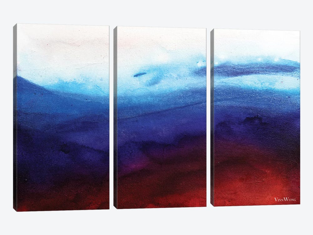 Ruby Tides by Vinn Wong 3-piece Canvas Art Print