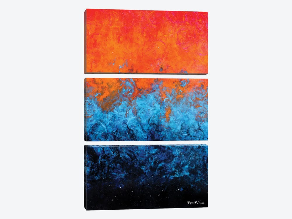 Sea Of Flames by Vinn Wong 3-piece Canvas Art Print