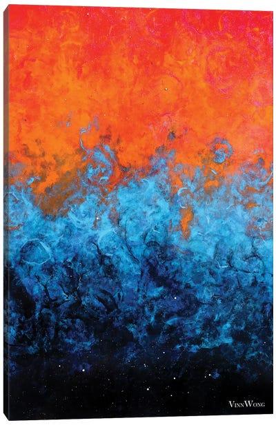 Sea Of Flames Canvas Art Print